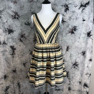 NWOT JCrew gold fit and flare dress